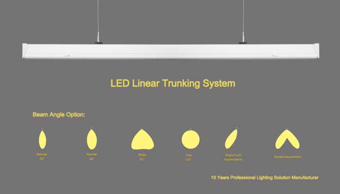 LED linear trunking system lighting