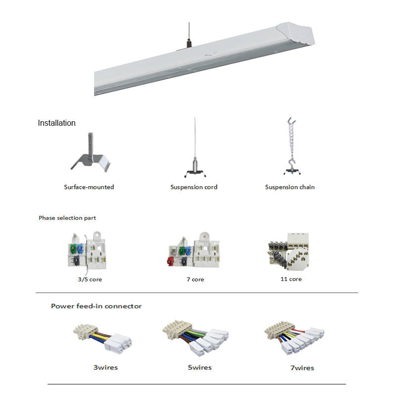 led linear trunking system light