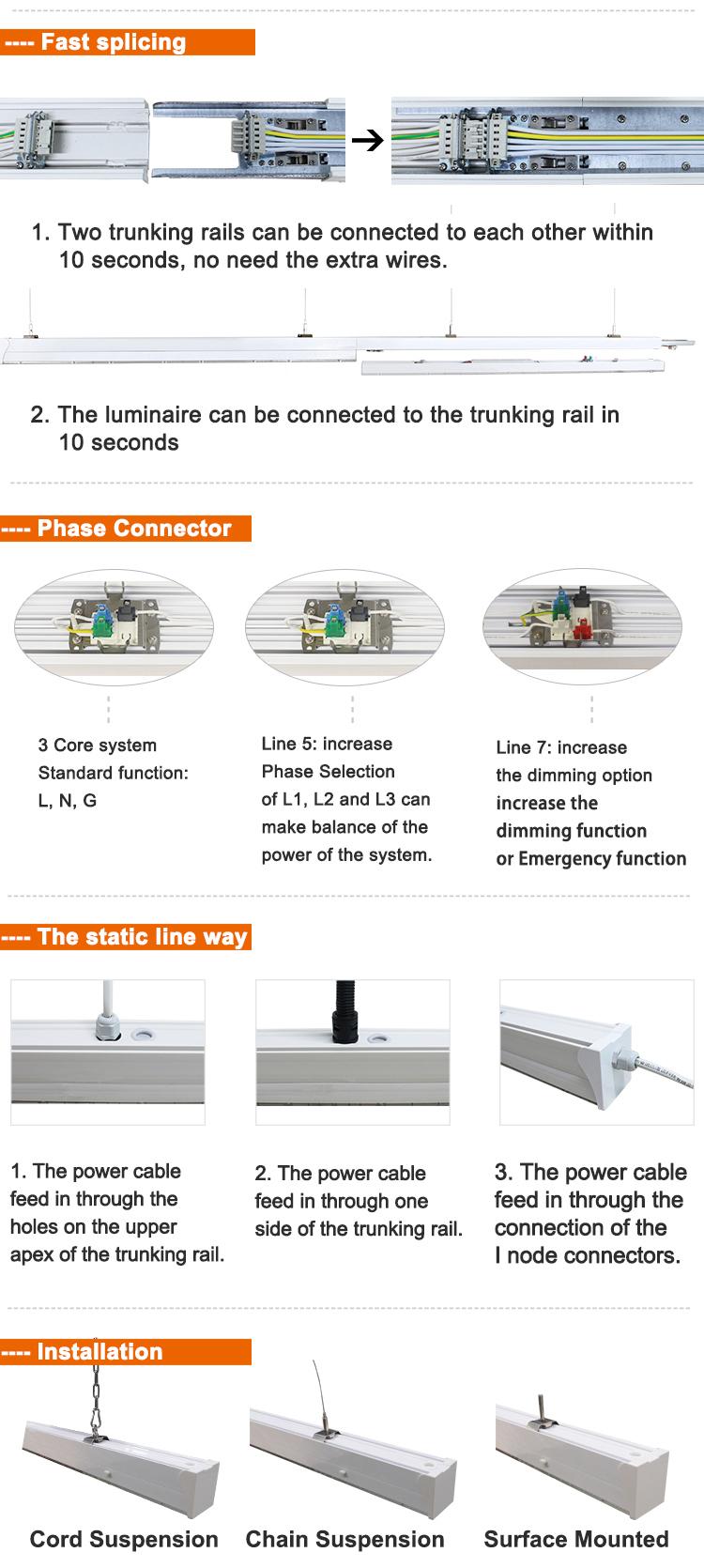 Led Linear Trunking System Supermarket Lighting A01 Model