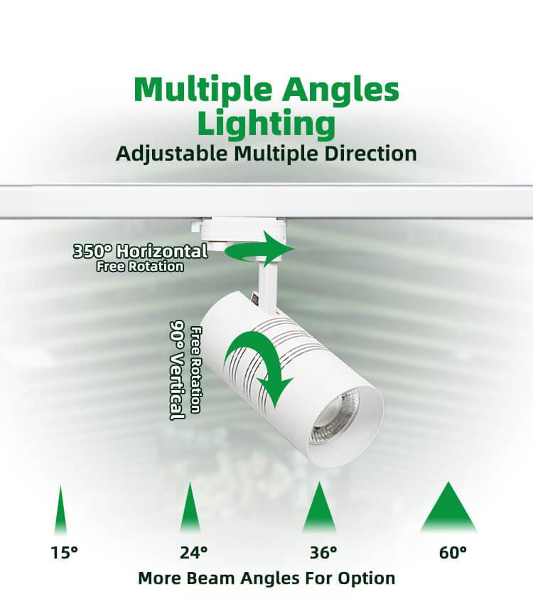 Aluminum led track light 2 3 wires 10w 20w 30w 37w